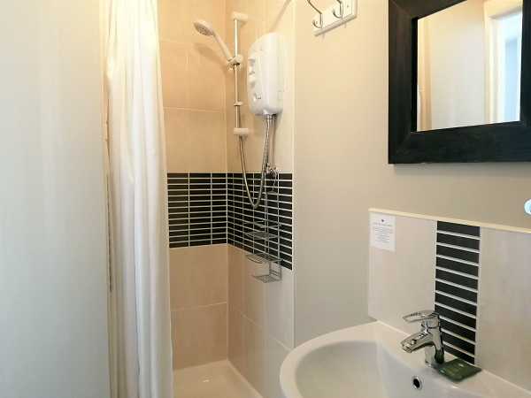 Room 5 - En-suite with shower, basin and WC