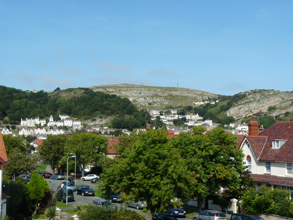 View of Great Orme from side window